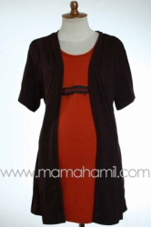baju menyusui guci pendek bolero coklat  SD 180  large